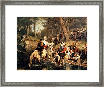 The Wedding Trek Framed Print by Adolphe Tidemand