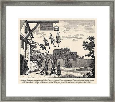 The Weighing House By William Hogarth Framed Print