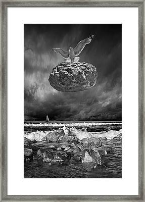 Framed Print featuring the photograph The Weight Is Lifted by Randall Nyhof