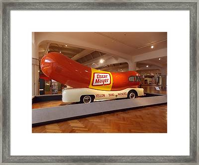 The Weinermobile 1 Framed Print