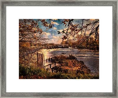 The Weir At Teddington Framed Print