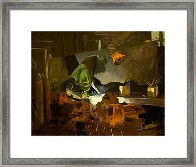 The Welder Framed Print by Martha Ressler