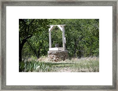 The Well Framed Print by Jon Rossiter