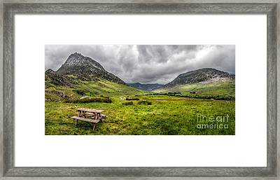 The Welsh Valley Framed Print by Adrian Evans