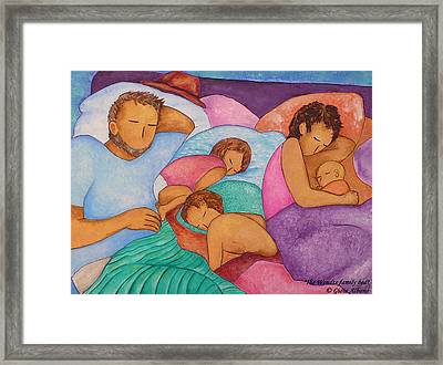 The Wendts Family Bed Framed Print by Gioia Albano