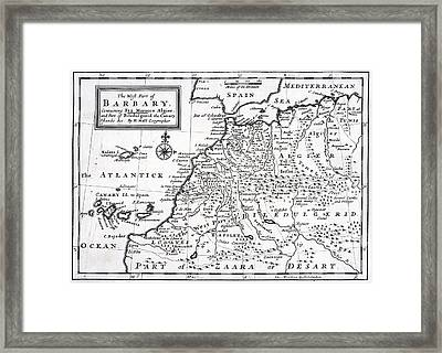 The West Part Of Barbary Containing Fez Framed Print by Vintage Design Pics