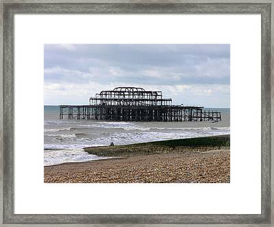 The West Pier Brighton. Framed Print by Mike Lester