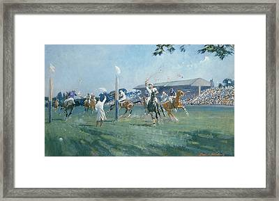 The Westchester Cup Framed Print by Gilbert Holiday