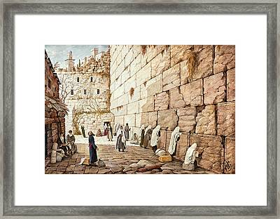 The Western Wall  Framed Print by Aryeh Weiss