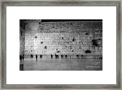 The Western Wall, Jerusalem 2 Framed Print
