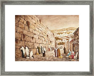 The Western Wall Jerusalem Framed Print by Aryeh Weiss