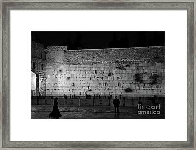 The Western Wall, Jerusalem Framed Print