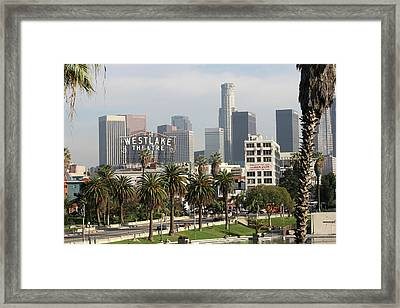 The Westlake Theater Framed Print