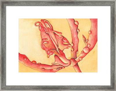 The Wet Dragon Framed Print by Versel Reid