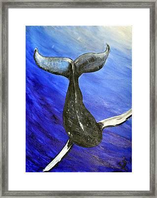 The Whale Framed Print by Pilar  Martinez-Byrne