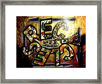 The Whaling City Recycles Framed Print