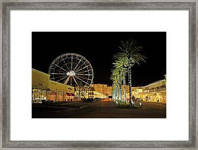 The Wharf At Night  Framed Print by Michael Thomas