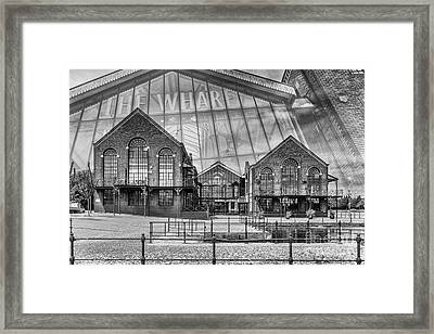 The Wharf Cardiff Bay Mono Framed Print