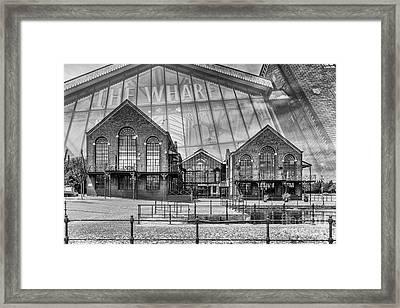 The Wharf Cardiff Bay Mono Framed Print by Steve Purnell
