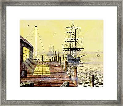 The Wharf Framed Print