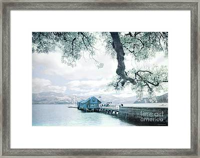 The Wharf Framed Print by Jan Pudney