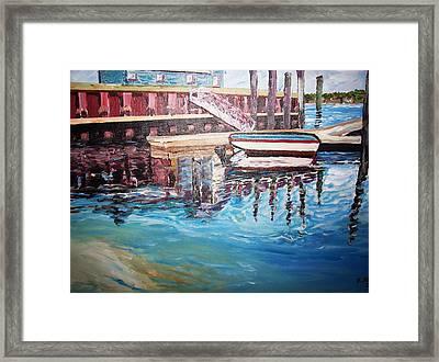 The Wharf Framed Print