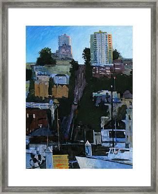 The Wharf Framed Print by Robert Bissett