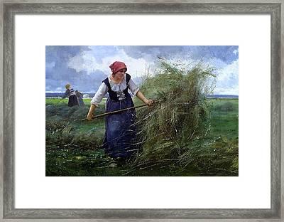 The Wheatfield Framed Print