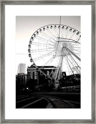 The Wheel Black And White Framed Print