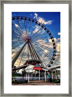 The Wheel Entrance Framed Print