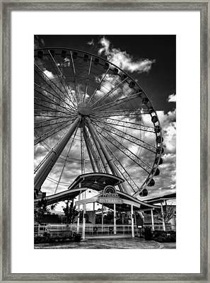 The Wheel Entrance In Black And White Framed Print