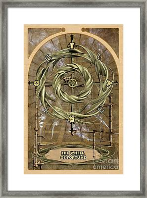 The Wheel Of Fortune Framed Print by John Edwards