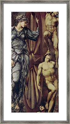 The Wheel Of Fortune Framed Print by Sir Edward Burne Jones