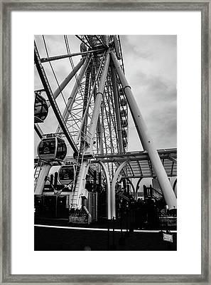 The Wheel Seattle  Framed Print