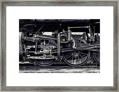 The Wheels Framed Print by Emily Kay