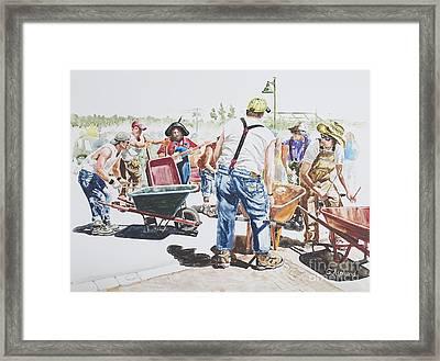 The Wheelsbarrow Band Framed Print