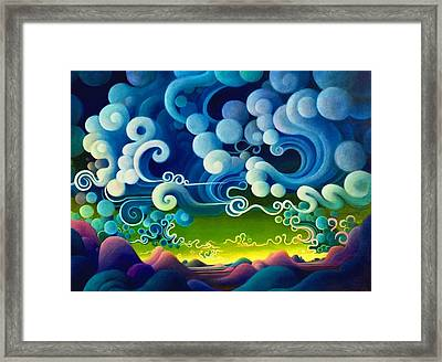 The Whims Of Time Framed Print by Richard Dennis
