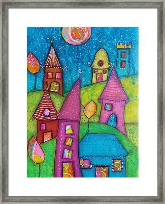 The Whimsical Village - 2 Framed Print