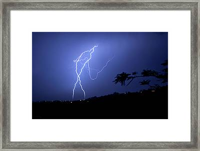 Framed Print featuring the photograph The Whip Of Fire by Odille Esmonde-Morgan