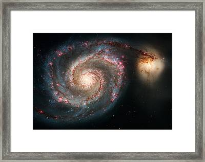 The Whirlpool Galaxy Framed Print by Marco Oliveira