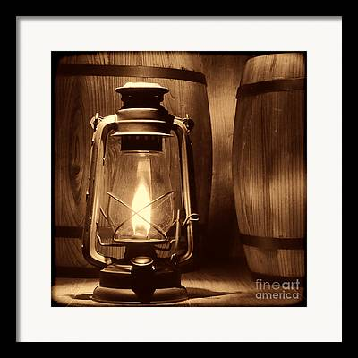Old Rustic Barn And Barrel Framed Prints
