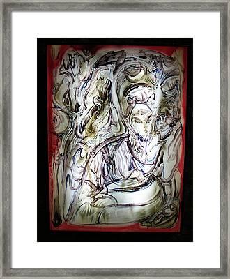 The Whisperer Framed Print