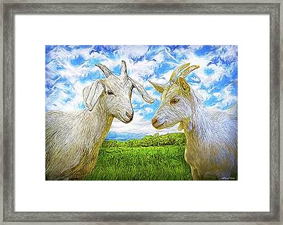 The Whispers Of Goats Framed Print