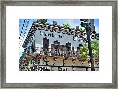 The Whistle Bar On Duval Street - Key West, Florida Framed Print
