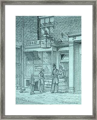 The Whistling Oyster Framed Print