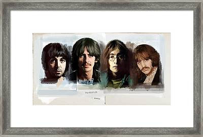 The White Album  The Beatles  Framed Print by Iconic Images Art Gallery David Pucciarelli