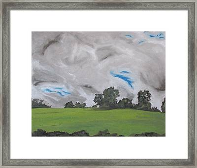 The White And Grey Clouds Quebec Canada Framed Print