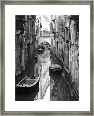The White Bridge Framed Print by Donna Corless