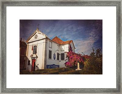 The White Church Of Santa Luzia Framed Print