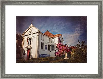 The White Church Of Santa Luzia Framed Print by Carol Japp